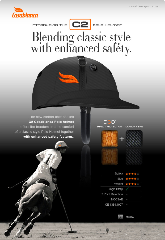 Introducing the C2 Polo Helmet - Blending classic style with enhanced safety