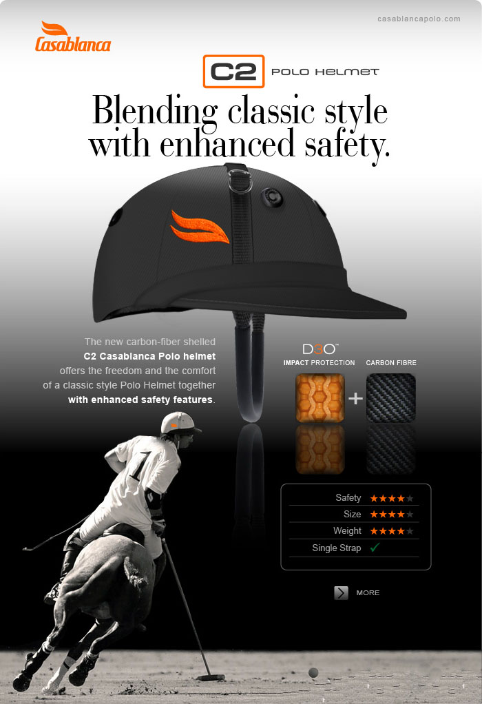 C2 Polo Helmet - Blending classic style with enhanced safety