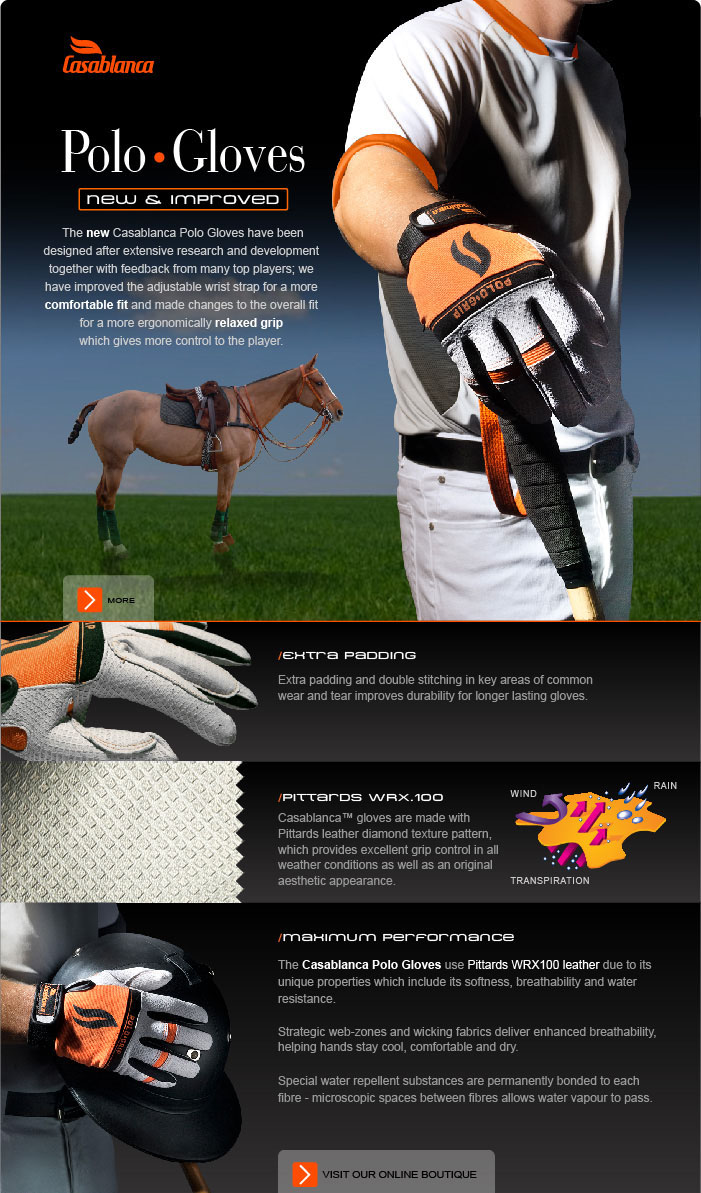 Casablanca Polo Gloves / New & Improved