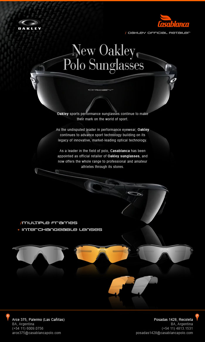 New Oakley Polo Sunglasses