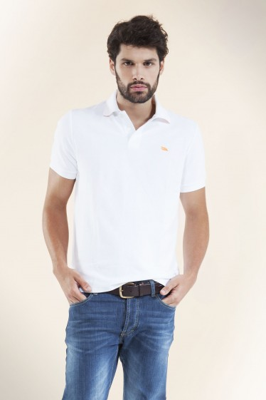 Men's Slim Fit Pique Polo Shirt - White