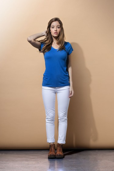 Essential Scoop Neck Tee Shirt - Royal Blue